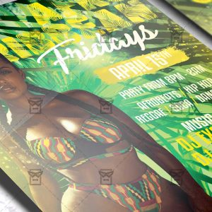 Download Afro Caribbean Fridays PSD Flyer Template Now