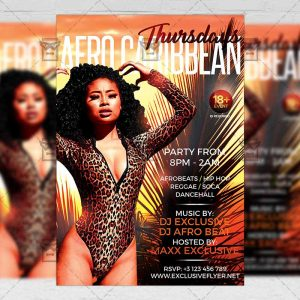 Download Afro Caribbean Thursdays PSD Flyer Template Now