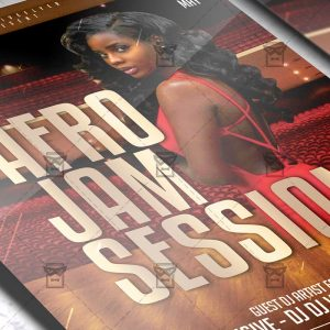 Download Afro Jam Session PSD Flyer Template Now