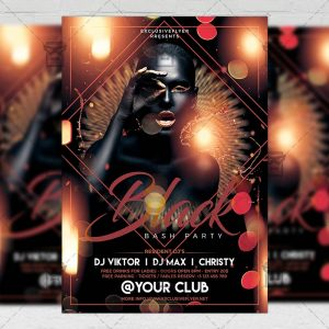 Download Black Bash Party PSD Flyer Template Now