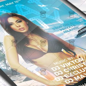Download Boat Party PSD Flyer Template Now