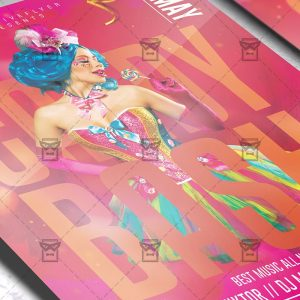 Download Candy Bash Night PSD Flyer Template Now