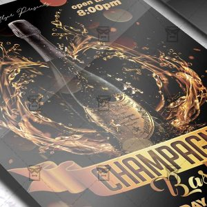 Download Champagne Bash PSD Flyer Template Now