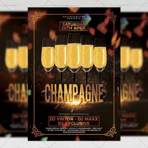 Download Champagne Nights PSD Flyer Template Now