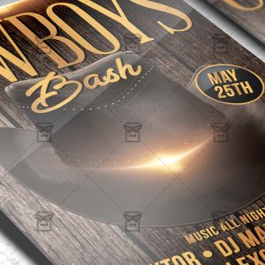 Download Cowboys Bash PSD Flyer Template Now