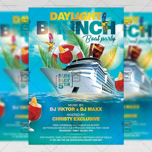 Download Daylight Brunch PSD Flyer Template Now