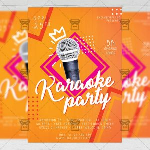 Download Karaoke Night Party PSD Flyer Template Now