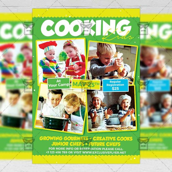 Download Kids Cookout Classes PSD Flyer Template Now