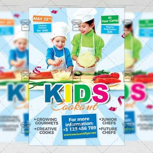 Download Kids Cookout PSD Flyer Template Now