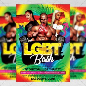 Download LGBT Bash PSD Flyer Template Now