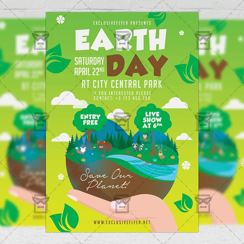 Seasonal A5 Flyer Template: Mother Earth Day Celebration Flyer