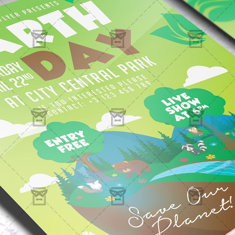 Mom Day Sale Ͽ� Seasonal A5 Flyer Template: Mother Earth Day Celebration Flyer