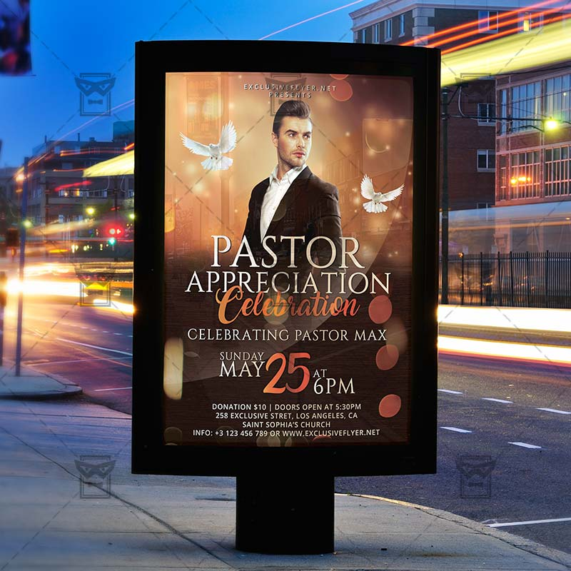 Download Pastor Anniversary PSD Flyer Template Now