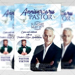 Download Pastor Anniversary Celebration PSD Flyer Template Now