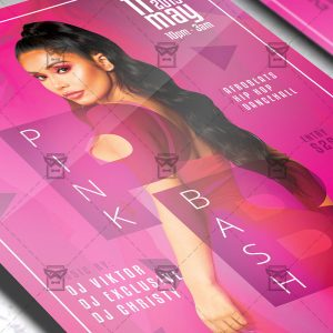Download Pink Bash Night PSD Flyer Template Now
