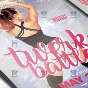 Download Twerk Battle PSD Flyer Template Now