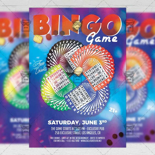 Download Bingo Game on the Beach PSD Flyer Template Now