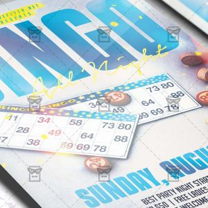 Download Bingo Game Night PSD Flyer Template Now
