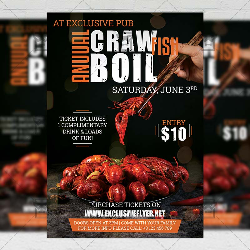 This is an image of Crawfish Boil Invitations Free Printable in design