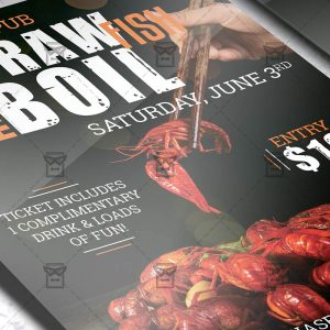 Download Crawfish Boil Invitation PSD Flyer Template Now