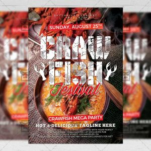 Download Crawfish Festival PSD Flyer Template Now