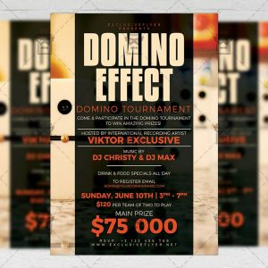 Download Domino Effect PSD Flyer Template Now