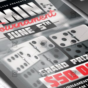 Download Dominoes Tournament PSD Flyer Template Now