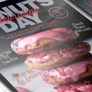 Download Donuts Day Celebration PSD Flyer Template Now