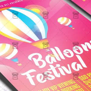 Download Festival of Balloons PSD Flyer Template Now