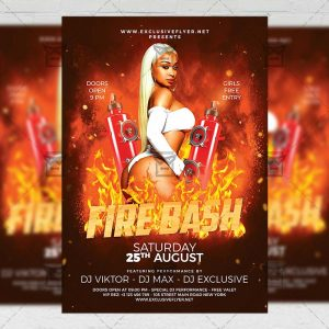 Download Fire Bash PSD Flyer Template Now