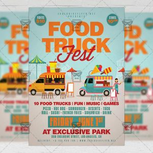 Download Food Truck Fest PSD Flyer Template Now