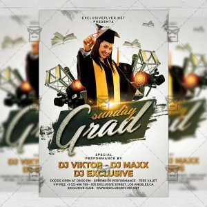 Download Graduation Sunday PSD Flyer Template Now