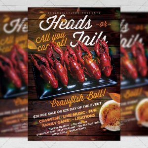 Download Massive Crawfish Boil PSD Flyer Template Now