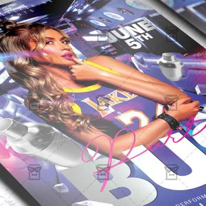 Download Party Bus PSD Flyer Template Now