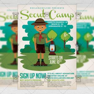 Download Scout Camp PSD Flyer Template Now