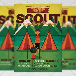 Download Scout Summer Camp PSD Flyer Template Now