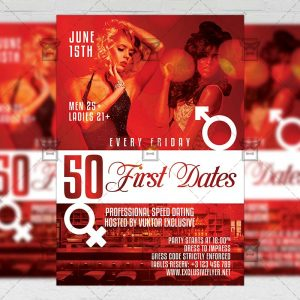 Download Speed Dating Night PSD Flyer Template Now