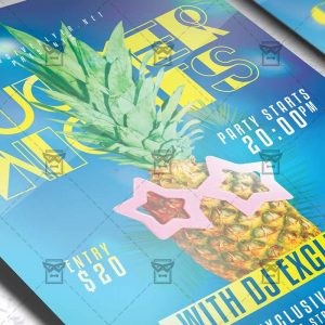 Download Summer Nights PSD Flyer Template Now