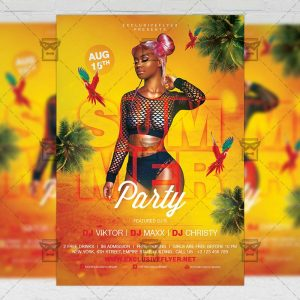 Download Summer Party on the Beach PSD Flyer Template Now