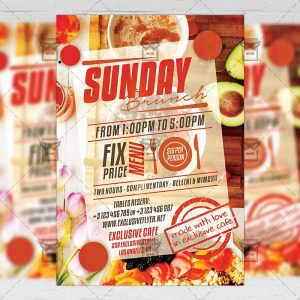 Download Sunday Brunch PSD Flyer Template Now