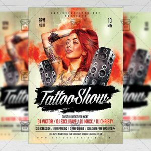 Download Tattoo Show PSD Flyer Template Now