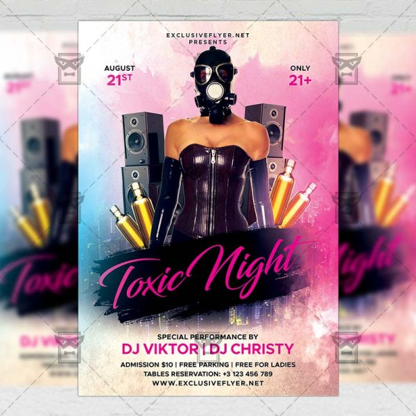 Download Toxic Night PSD Flyer Template Now