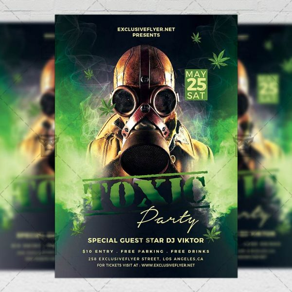 Download Toxic Party PSD Flyer Template Now