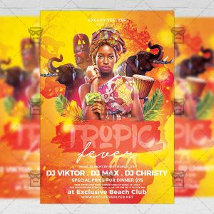 Download Tropic Fever PSD Flyer Template Now