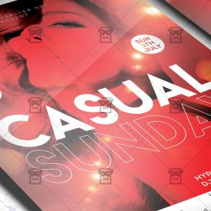 Download Casual Sunday PSD Flyer Template Now