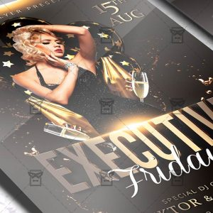 Download Executive Fridays PSD Flyer Template Now