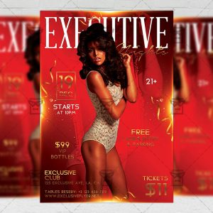 Download Executive Night PSD Flyer Template Now