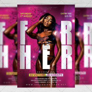 Download For Her Night PSD Flyer Template Now