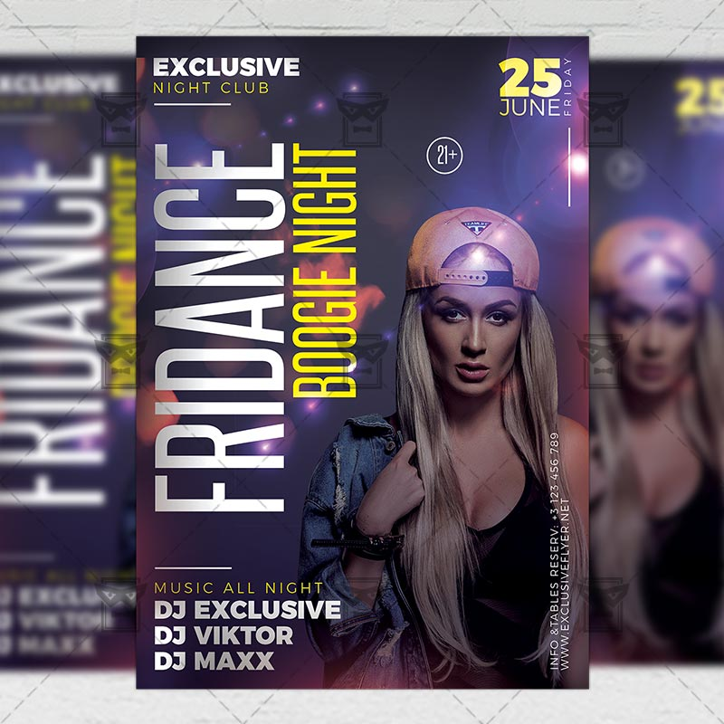 Download Fridance Boogie Night PSD Flyer Template Now