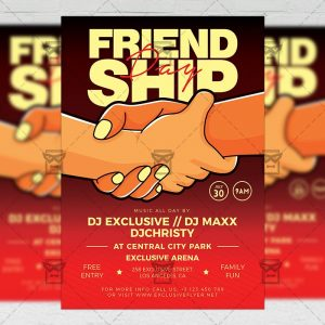 Download Friendship Day Celebration PSD Flyer Template Now